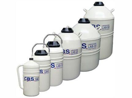 LAB Series Dewars<br>Contenedores para nitrógeno liquido de laboratorio<br>CAT. LAB4 – LAB5 – LAB10 – LAB20 – LAB30 – LAB50